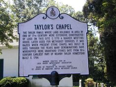 Taylor's Chapel, Baltimore City