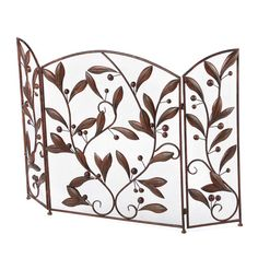 Found it at Wayfair - 3 Panel Metal Leaves Fireplace Room Divider