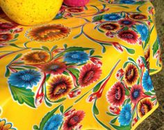 114 X 47.5 Rectangle Oilcloth Tablecloth By Notyourmamaskitchen