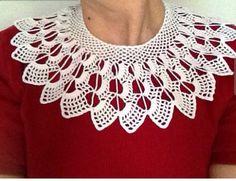 accessoriesby nez by accessoriesbynez on Etsy Crochet Collar Pattern, Crochet Patterns, Crochet Ideas, Crochet Projects, Colar Diy, Diy Crochet Flowers, Crochet Wedding, Lace Jewelry, Lace Collar