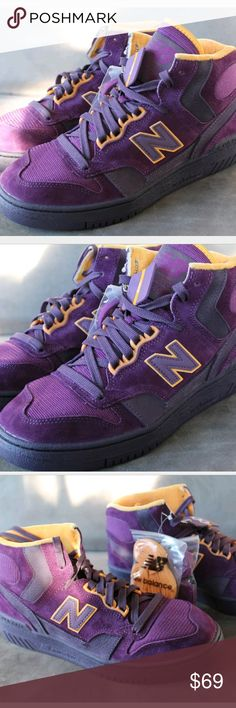 New Balance 740 Packer Shoes Purple Reign James NAME:  New Balance 740 x Packer Shoes  SIZE:  7  COLOR:  Purple/Gold  CONDITION:  New WITHOUT box  ITEM #:  P740PPR  INCLUDES:  factory tags only. From Marshalls New Balance Shoes Athletic Shoes