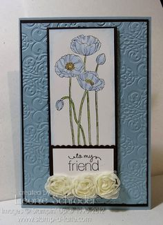 Stamp A Latte - Stampin Up! with Leonie Schroder  Pleasant Poppies - so fresh
