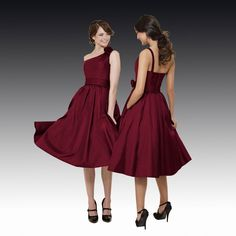 Burgundy color for the bridesmaids