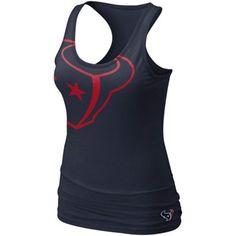 Nike Houston Texans Women's Big Logo Tri-Blend Tank - Navy Blue