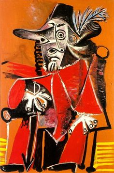 Mousquetaire à l`épée Assis, 1969|© Pablo Picasso