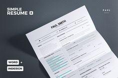 Simple Resume/Cv Volume 8 by TheResumeCreator on College Resume Template, One Page Resume Template, Resume Design Template, Cv Template, Resume Templates, Print Templates, Resume Action Words, Resume Words Skills, Resume Writing Tips