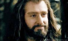 Thorin and that too seldom seen smile <3 -- Thorin smiling makes the sun come out....