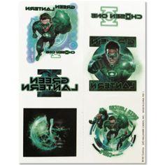 Green Lantern Temporary Tattoos