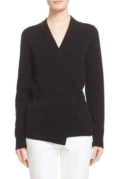 MICHAEL KORS Belted Wrap Cashmere Cardigan. #michaelkors #cloth #