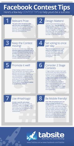 Facebook Contest Success Tips Infographic