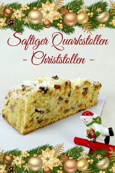 Juicy quark stollen - Christstollen - Don& like a tunnel? Because this is a great juicy curd stollen - Great Appetizers, Christmas Appetizers, Christmas Desserts, Appetizer Recipes, Christmas Eve, Bruchetta Recipe, Kenwood Cooking, Italian Pastries, Small Desserts