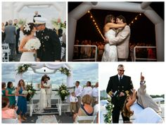 A collage of some of the most romantic Destin Florida weddings on the SOLARIS yacht