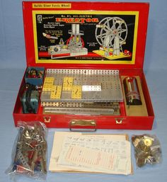 vintage toys | ... SET BUILDS GIANT FERRIS WHEEL SET 8 1/2 - Vintage Toys (item 451