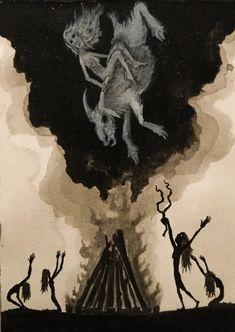 Grave Star Rite - The Art of Valin Mattheis Arte Horror, Horror Art, Necronomicon Lovecraft, Gothic Fantasy Art, Occult Art, Wiccan Art, Esoteric Art, Creepy Art, Surreal Art