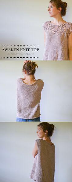 Awaken lace top knitting pattern.