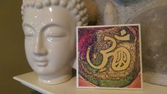 Check out this item in my Etsy shop https://www.etsy.com/listing/276335552/ceramic-tile-om-peace-wall