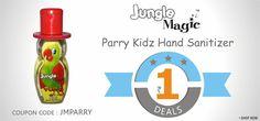 Buy Jungle Magic Parry Hand Sanitizer for Kids online @ SafetyKart just @ Rs. 1.  Visit : https://www.safetykart.com/child-care/652-jungle-magic-parry-hand-sanitizer-for-kids.html Use Coupon Code : JMPARRY Valid Till : 15-Jan-2015