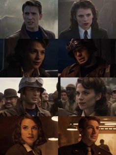 Captain America and Peggy Carter. Hayley Atwell ❤️