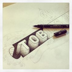 Personal identity by Tobias Hall, via Behance - Cool art idea