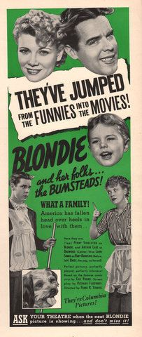 1939 Movie print ad Blondie and her folks the by Vividiom on Etsy, $8.00