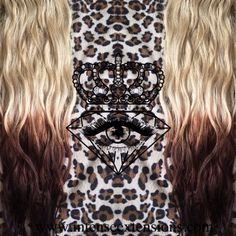 Double wefted, razored, sun dried and wavy ash blonde to platinum blonde, medium brown and dark brown ❤️ Customize your unique set at www.intenseextensions.com email me at intenseariellaann@gmail.com