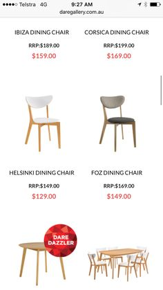 Ibiza, Dining Chairs, Table, Home Decor, Dining Chair, Interior Design, Home Interior Design, Desk, Tabletop