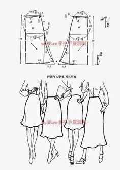 Chinese method of pattern making - skirts - SSvetLanaV - Álbumes web de Picasa