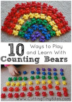 10 Ways to Play and Learn With Counting Bears - one of our favorite manipulatives!