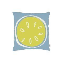 Summer citrus cushion in lemon | hardtofind.