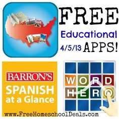Free Educational Apps 4/5/13: Word Hero, 50 States, Spanish At A Glance, plus more