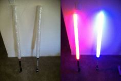 Make your own light sabers....I still couldn't do it.