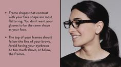 Bobbi Brown Training video - How to choose the right eyeglass frames for your face shape