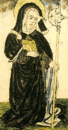 St. Wiborada - the patron of the nuns's bindery    Saints Mary and Martha, Orthodox Monastery, Wagener, SC (story at bottom of page)