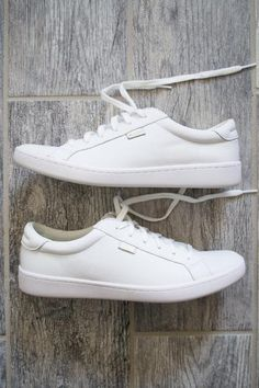Nothing is more classic than a leather white Keds shoe. Versatile for any outfit and perfect for on the go. This white shoe features leather upper material, lace up style, cushioned Ortholite® insole,