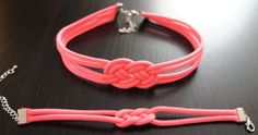 Small St. Josephine (Infinity) Knot Chocker Necklace & Braclet, Paracord. $15.00, via Etsy.  https://www.etsy.com/listing/129782556/small-st-josephine-infinity-knot-chocker?ref=shop_home_feat  www.TexasHairClips.com
