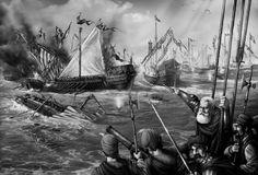 The mighty Estalian Navy Fantasy Races, Fantasy Rpg, Blood Bowl, Total War, Dark Elf, Warhammer Fantasy, Warfare, Elves, Old World