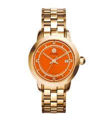 Tory Burch Gold-tone/orange, 37 Mm