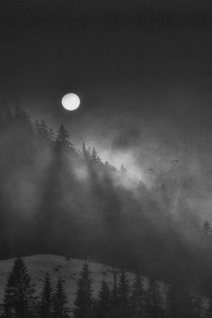 Misty moon somewhere cold