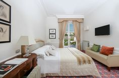 #SuperirorRoom -  Double/twin-bedded spacious #rooms with a nice #balcony #overlooking the #Gulf of #Naples and #Vesuvius or the magnificent historic #park. The above #rooms are ideal for a relaxing and comfortable stay.