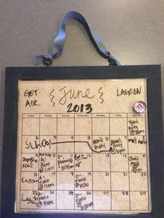 Magnetic Calendar Sunday Monday, Thursday Friday, Wednesday, Magnetic Calendar, Magnets, Organization, Getting Organized, Organisation, Staying Organized