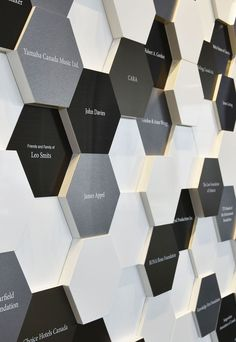 Award winning donor recognition wall for Humber College. Office Wall Design, Workspace Design, Donor Wall, Plaque Design, Wall Logo, Timeline Design, Wall Of Fame, Environmental Design, Stand Design