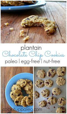 Paleo Plantain Chocolate Chip Cookies