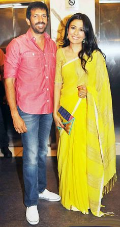 love the color of Mini Mathur's sari