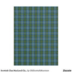 Scottish Clan MacLeod Classic Tartan Fleece Blanket