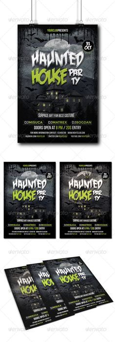 Free-Halloween-Party-Flyer-PSD-Template Restaurant \ coffee - halloween party flyer