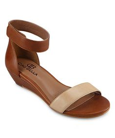 1e5480842 Ciao Bella Mid-Brown Wilson Leather Wedge Sandal