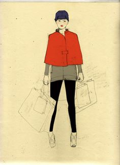 illustration for Elle by Sophie Leblanc, via Behance