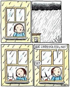 my sentiments exactly. Kitty Crowther, I Love Rain, Humor Grafico, World Quotes, I Love Books, Vintage Children, Comic Strips, Illustrations Posters, Illustration Art