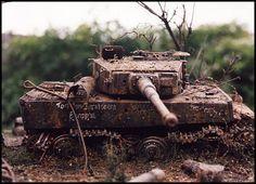 Diorama Militar, Model Tanks, Military Diorama, Vignettes, Military Vehicles, Wwii, Miniature, Ideas, War