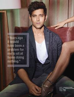 Hrithik Roshan looks hot and handsome hunk in photoshoot pictures for The Man magazine January 2017 issue. Indian Men Fashion, Men's Fashion, Fashion Styles, Fashion Trends, Man Magazine, Hrithik Roshan Hairstyle, Diesel T Shirts, Bollywood Pictures, Smoke Photography